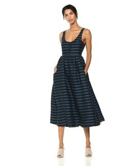 Mara Hoffman Women's Annie Button Down Tank Midi Dress