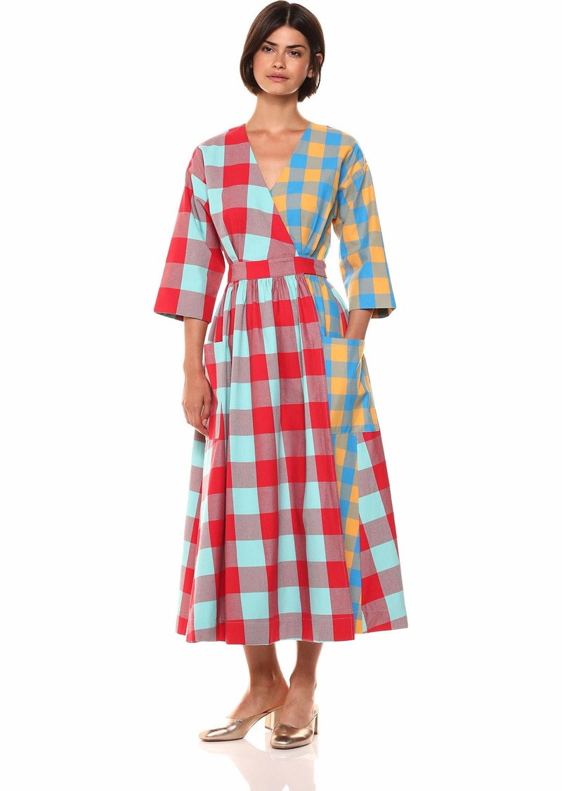 Mara Hoffman Women's Anya Quarter Sleeve Wrap Dress