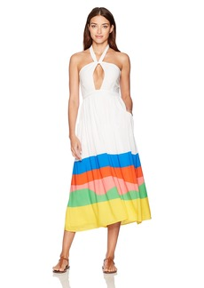 Mara Hoffman Women's Beach Ball Halter Midi Dress Cover up  L