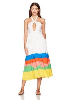 Mara Hoffman Women's Beach Ball Halter Midi Dress Cover up  S