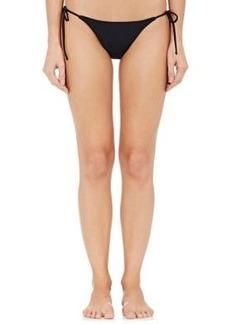 Mara Hoffman Women's Beaded Bikini Bottom-Black Size S