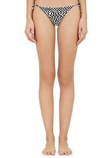 Mara Hoffman Women's Beaded Side-Tie Bikini Bottom-BLACK Size L