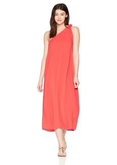 Mara Hoffman Women's Camilla One Shoulder Cover Up Dress Red