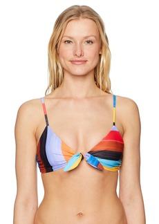 Mara Hoffman Women's Carla Sunglow Knot-Front Bikini Top  M