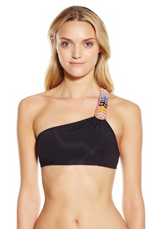Mara Hoffman Women's Embellished One Shoulder Bikini Top