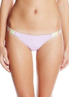 Mara Hoffman Women's Embroidered Low Rise Bikini Bottom
