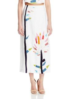 Mara Hoffman Women's Embroidered Midi Skirt