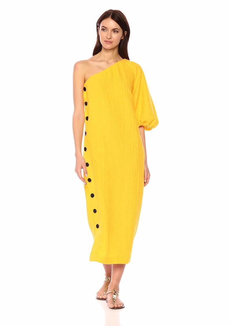 Mara Hoffman Women's Emilie One Shoulder Button Side Ankle Dress