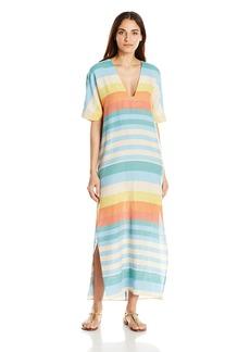 Mara Hoffman Women's Equator Stripe Kimono Dress Cover up  L
