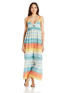 Mara Hoffman Women's Equator Stripe Tie Front Jumpsuit Cover up