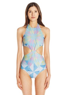 Mara Hoffman Women's Fractals Knot Front One Piece Swimsuit