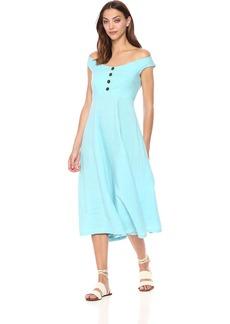 Mara Hoffman Women's Greta Off The Shoulder Button Up Dress