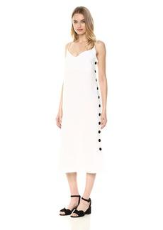 Mara Hoffman Women's Heidi Button Side Spaghetti Strap Shift Dress