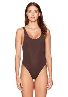 Mara Hoffman Women's High Cut Maillot One Piece Swimsuit  XS