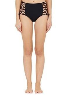 Mara Hoffman Women's High-Waist Bikini Bottom-Black Size XS