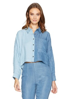 Mara Hoffman Women's Inez Button Down Long Sleeve Shirt