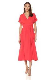 Mara Hoffman Women's Ingrid Short Sleeve Wrap Midi Dress
