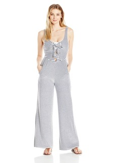 Mara Hoffman Women's Jacquard Stripe Lace-up Front Jumpsuit Cover up