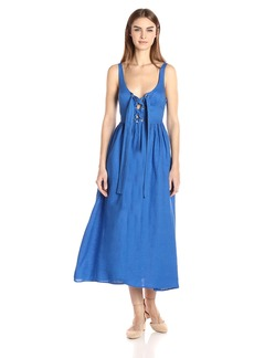 Mara Hoffman Women's Lace up Midi Dress