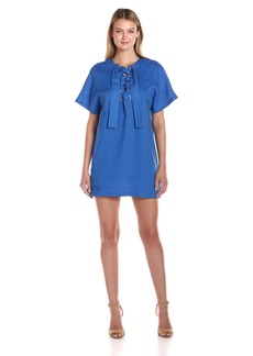 Mara Hoffman Women's Lace up Mini Dress  S