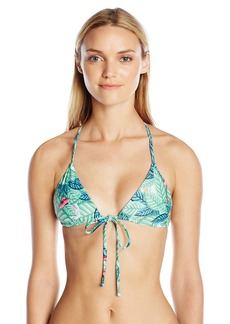 Mara Hoffman Women's Leaf Cross Back Triangle Bikini Top