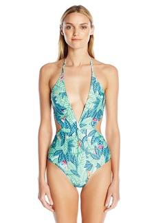 Mara Hoffman Women's Leaf Twist Front One Piece Swimsuit