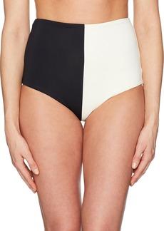 Mara Hoffman Women's Lydia Colorblock High-Waisted Bikini Bottom  M