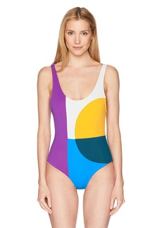 Mara Hoffman Women's MIA abacus One Piece Swimsuit  M