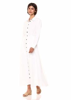 Mara Hoffman Women's Michelle Long Sleeve Button Up Collard Ankle Dress