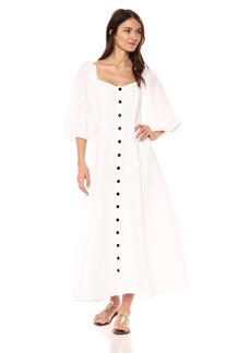 Mara Hoffman Women's Mika Button up Three Quarter Sleeve Midi Dress