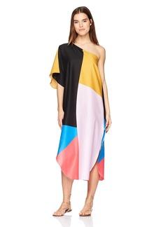 Mara Hoffman Women's Noa One Shoulder Cover up Dress  X-Large