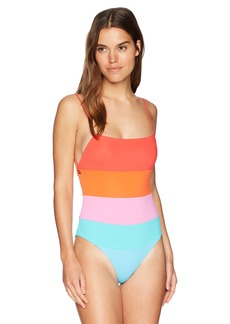 Mara Hoffman Women's Olympia High Leg One Piece Swimsuit