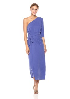 Mara Hoffman Women's Shirley One Shoulder Tie Front Midi Dress