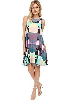 Mara Hoffman Women's Ponte Diamond Sleeveless Printed Swing Dress