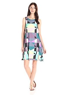 Mara Hoffman Women's Ponte Diamond Sleeveless Printed Swing Dress