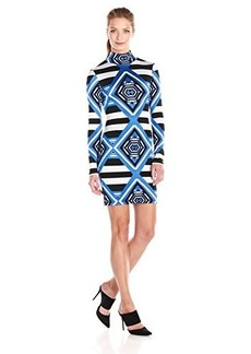 Mara Hoffman Women's Printed Jacquard Mini Turtleneck Longsleeve Dress