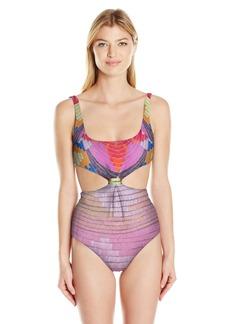 Mara Hoffman Women's Radial Knot-Front Scoop Neck One Piece Swimsuit  S