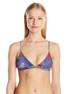 Mara Hoffman Women's Radial Triangle Swimsuit Bikini Top  M