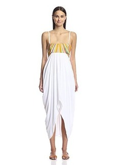 Mara Hoffman Women's Rayon Embroidered Maxi Cover Up Dress