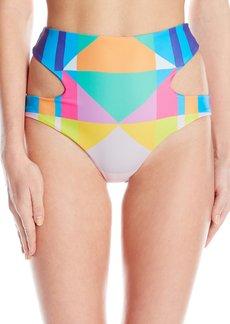 Mara Hoffman Women's Reversible Cut Out High Waisted Bikini Bottom