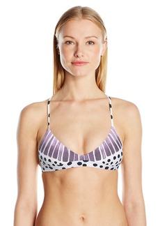 Mara Hoffman Women's Samba Scoop Neck Bralette Swimsuit Bikini Top  L
