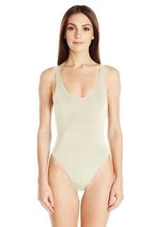 Mara Hoffman Women's Solid Low Back One Piece Swimsuit  XS