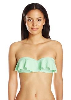 Mara Hoffman Women's Solid Ruffle Bandeau Bikini Top