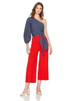 Mara Hoffman Women's Stella One Shoulder Three Quarter Sleeve Crop Top