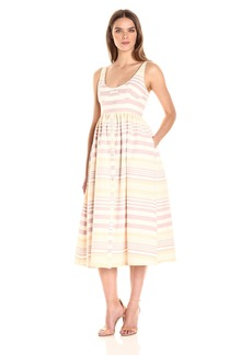 Mara Hoffman Women's Stripe Button Midi Dress