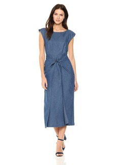 84bdb0839c Mara Hoffman Mika Off-the-shoulder Tencel And Linen-blend Midi Dress ...