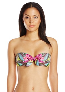 Mara Hoffman Women's Tie Front Bandeau Bikini Top