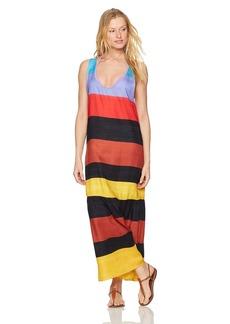 Mara Hoffman Women's Valentina Sunglow Ruffle Sleeveless Maxi Dress Cover-up  L