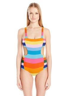 Mara Hoffman Women's Vela Cut-Out Side One Piece Swimsuit  S
