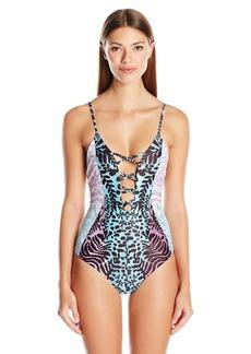 Mara Hoffman Women's Verbena Criss-Cross Front One Piece Swimsuit  XS